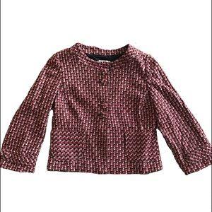 Anne Taylor LOFT Jacket Red/Black/Brown